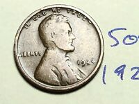 1924 1C BN LINCOLN CENT WHEAT CENT 5093K