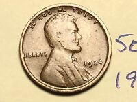 1924 1C BN LINCOLN CENT WHEAT CENT 5051K