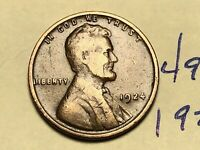 1924 1C BN LINCOLN CENT WHEAT CENT 4920K