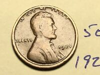 1924 1C BN LINCOLN CENT 5032K WHEAT CENT