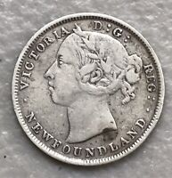 NEWFOUNDLAND 1894 20 CENTS SLIVER 20C NICE COIN  $