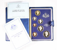 1986 ROYAL AUSTRALIAN MINT 7 COIN PROOF SET D6 2221