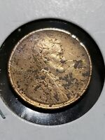 1909 S WHEAT CENT  UNCIRCULATED DETAILS  CORRODED