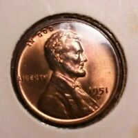 1951-D LINCOLN WHEAT CENT WITH TONING
