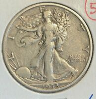 1933-S WALKING LIBERTY HAL DOLLAR  EXTRA FINE