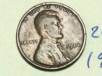 1924 1C BN LINCOLN CENT 2439K WHEAT CENT