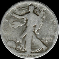 A 1935 P WALKING LIBERTY HALF DOLLAR 90 SILVER US MINT EXACT COIN SHOWN 319