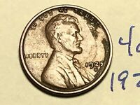 1925-S 1C BN LINCOLN CENT WHEAT CENT 4057K