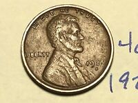1925-S 1C BN LINCOLN CENT WHEAT CENT 4028K