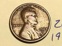 1925-S 1C BN LINCOLN CENT WHEAT CENT 2666K