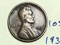 1936 S 1C LINCOLN WHEAT CENT CENT 1059K