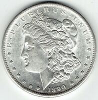 1890-S $1 MORGAN SILVER DOLLAR SLIDER UNCIRCULATED LOTS OF LUSTER