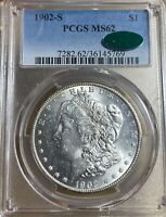 1902-S PCGS/CAC MINT STATE 62  MORGAN SILVER DOLLAR