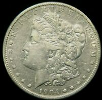 1904-S MORGAN SILVER DOLLAR  AU ABOUT UNCIRCULATED  PRICED RIGHT INV019