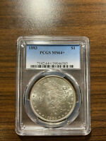 1883-P MORGAN SILVER DOLLAR PCGS MINT STATE 64 PLUS