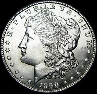 1890-S MORGAN DOLLAR SILVER ---- GEM BU  ---- B254