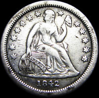 1842-O SEATED LIBERTY DIME SILVER ----    ---- B281