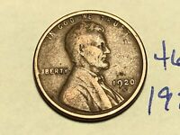 1920-S 1C BN LINCOLN CENT WHEAT CENT 4643K