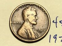 1925-S 1C BN LINCOLN CENT  WHEAT CENT 4536K