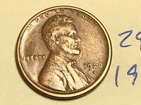 1920-S 1C BN LINCOLN CENT WHEAT CENT 2978K