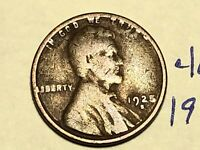 1925-S 1C BN LINCOLN CENT WHEAT CENT 4671K