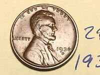 1936-D LINCOLN WHEAT CENT PENNY 2846K