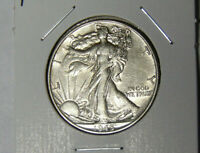 AU 1945 WALKING LIBERTY SILVER HALF DOLLAR ABOUT UNCIRCULATED PHILADELPHIA 62820