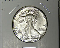 AU 1943-D WALKING LIBERTY SILVER HALF DOLLAR ABOUT UNCIRCULATED DENVER 62820