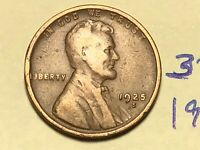 1925-S 1C BN LINCOLN CENT WHEAT CENT 3510K