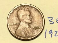 1925-S 1C BN LINCOLN CENT WHEAT CENT 3513K