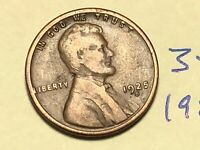 1925-S 1C BN LINCOLN CENT WHEAT CENT 3514K