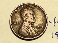 1915 1C BN LINCOLN CENT WHEAT CENT 4448K