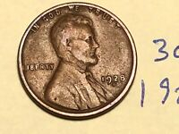 1928-D 1C BN LINCOLN CENT WHEAT CENT 3077K