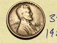 1925-S 1C BN LINCOLN CENT WHEAT CENT 3430K