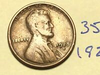 1925-S 1C BN LINCOLN CENT WHEAT CENT 3517K