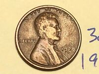 1928-D 1C BN LINCOLN CENT WHEAT CENT 3056K