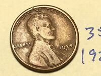 1925-S 1C BN LINCOLN CENT WHEAT CENT 3507K
