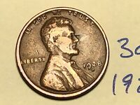 1928-D 1C BN LINCOLN CENT WHEAT CENT 3064K
