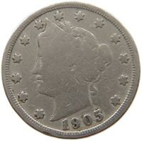 UNITED STATES NICKEL 1905 A17 313