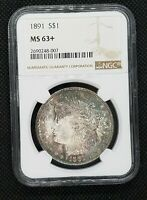 1891 MORGAN SILVER DOLLAR | NGC MINT STATE 63 | VAM 2 DOUBLE EAR