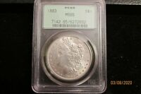 1883-P MORGAN SILVER DOLLAR PCGS MINT STATE 65 OLD GREEN HOLDER GEN 3.0 ORIGINAL