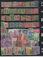 US STAMP COLLECTION W/ WASHINGTON FRANKLIN MIXED CONDITION