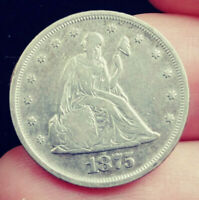 1875 TWENTY CENT PIECE. INHERITED FROM MY DAD. COLLECTOR'S C