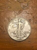 1939 50C WALKING LIBERTY HALF DOLLAR EXTRA FINE -AU