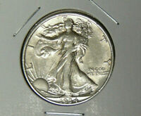 AU 1934 WALKING LIBERTY SILVER HALF DOLLAR ABOUT UNCIRCULATED PHILADELPHIA 7220