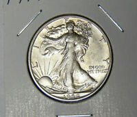 AU 1944-S WALKING LIBERTY SILVER HALF DOLLAR ABOUT UNCIRCULATED 7220
