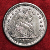 1841-O LIBERTY SEATED SILVER DIME, PCGS AU53, MUCH BETTER COIN SALE