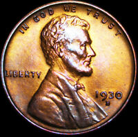 1930-D LINCOLN CENT WHEAT CENT ---- GEM BU ---- B502
