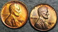 1932-D 1933 LINCOLN WHEAT CENTS ---- GEM BU LOT ---- B506