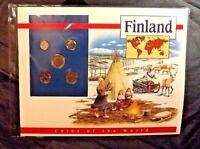 5 FINLAND COINS OF THE WORLD POSTAL COMMEMORATIVE SOCIETY 1994